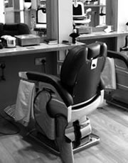 luxury london barbers chair