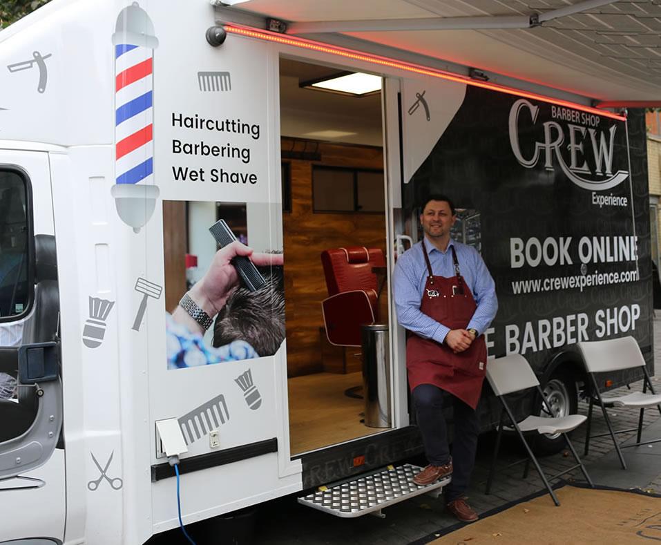 mobile barber shop london